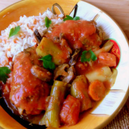 Thai Red Curry Chicken with Leeks and Shiitake Mushrooms
