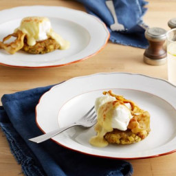 Thanks Benedict on Stuffing Cakes with Sage Hollandaise