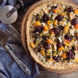 Thanksgiving Leftovers Pizza {with Grain-free Option}