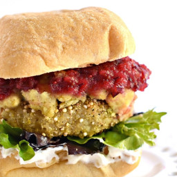 Thanksgiving Leftovers Quinoa Burgers