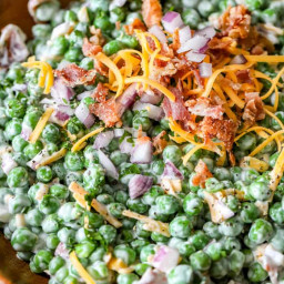 The Best Bacon Pea Salad