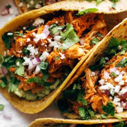 The Best Chicken Tinga Tacos
