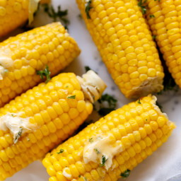 The Best Corn On The Cob With Garlic Butter