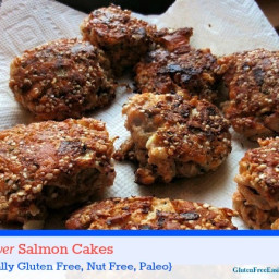 The Best Ever Gluten-Free Salmon Cakes (Grain Free, Dairy Free, Nut Free Pl