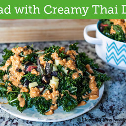 The Best Kale Salad You'll Ever Have with Creamy Thai Dressing