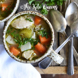 The Best Leftover Chicken Bone Broth Soup Recipe!