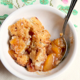 The Best Peach Cobbler