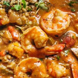 The Best Spicy Weekend Gumbo + Brown Rice