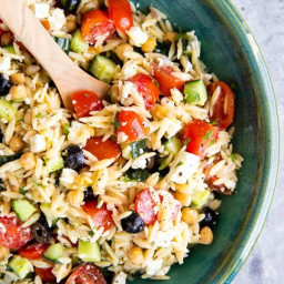 The Greek Orzo Salad You'll Want to Make All Summer Long