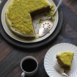 The Homemade Flour Cookbook, Lemon Pistachio Cake With Cream Cheese Frostin