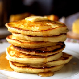 The most delicious pancakes in milk
