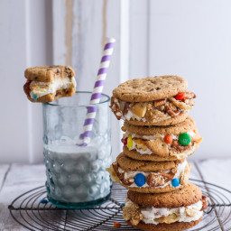 The Munchies Sweet Corn Ice Cream Sandwiches w/ Peanut Butter Chip Cookies