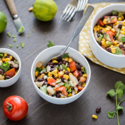 THE QUICKEST BLACK BEAN SALAD By Ann and Jane Esselstyn