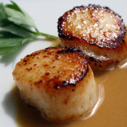 The Secret Ingredient (Coffee): Seared Scallops with Espresso Beurre Blanc