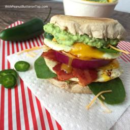 The Ultimate Guacamole Breakfast Sandwich