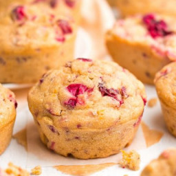 The Ultimate Healthy Cranberry Orange Muffins