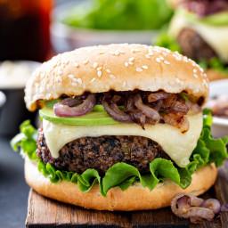 The Yummiest Homemade Black Bean Burger