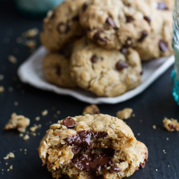 The Best Oatmeal Chocolate Chip Cookies Around.