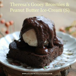 Theresa's Gooey Brownies and Peanut Butter Ice-Cream (S)