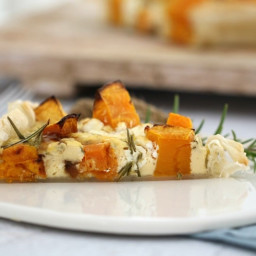 Thermomix Pumpkin and Feta Tart