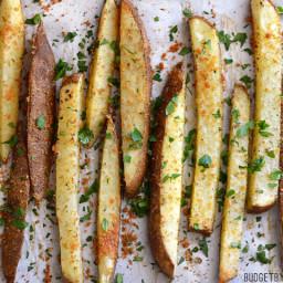 Thick Cut Garlic Parmesan Oven Fries