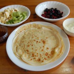 Thin buttermilk pancakes