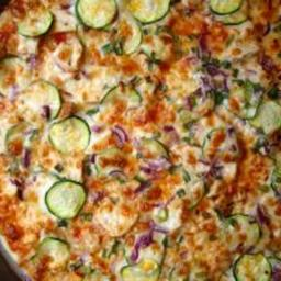 Thin-Crust Thai Chicken Pizza (like Papa Murphy's)