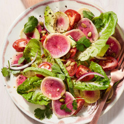 Thinly Shaved Watermelon Radishes Make Any Salad Prettier