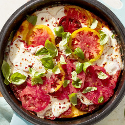 This Heirloom Tomato Frittata Pizza Is Great Any Time of Day