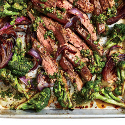 This Sheet Pan Flank Steak With Salsa Verde Is Ready in 20 Minutes