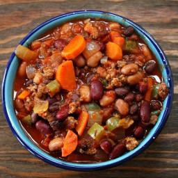 Three Bean and Beef Chili