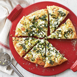 Three Cheese-and-Spinach Pizza