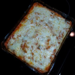 Three Cheese Chicken Penne Pasta Bake by LMB