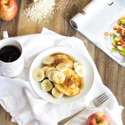 Three Ingredient Applesauce Pancakes