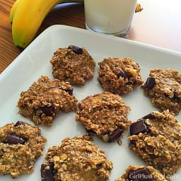 Three Ingredient Banana Oatmeal Chocolate Chip Cookies