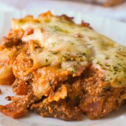 Three Meat Lasagna Casserole