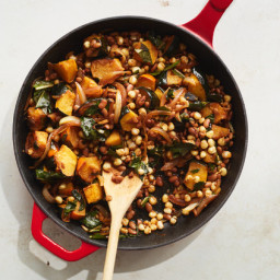 Three Sisters Bowl With Hominy, Beans and Squash