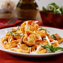 Three Cheese Tortellini with Traditional Sauce and Parmigiano Cheese