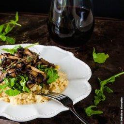 Thyme and Mushroom Quinoa Risotto {gluten free and vegan}