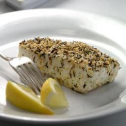Thyme- and Sesame-Crusted Pacific Halibut