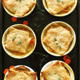 Thyme and White Bean Pot Pies