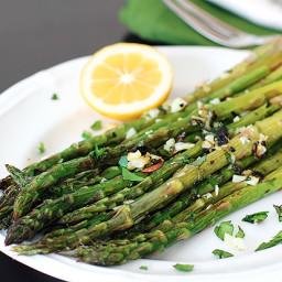 Thyme-Garlic Roasted Asparagus