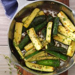 Thymed Zucchini Saute Recipe