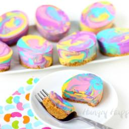 Tie-Dye Cheesecake Easter Eggs