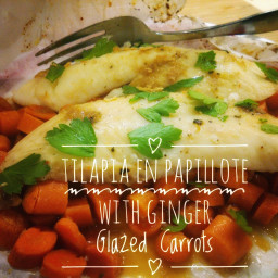 Tilapia En Papillote with Ginger Glazed Carrots