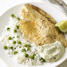 Tilapia Masala With Rice