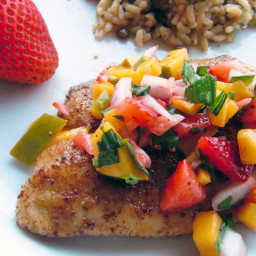 Tilapia with Mango Strawberry Salsa
