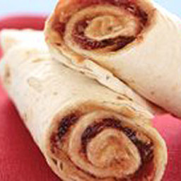 Tim's PB&J Tortilla Roll Ups