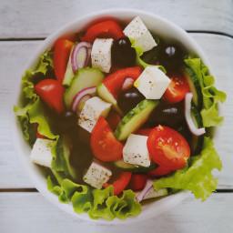 Tiny and Full Garden Greek Salad
