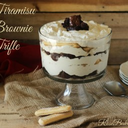 Tiramisu Brownie Trifle